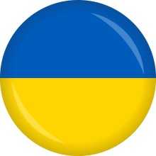 Button Ukraine Flagge Ø 50 mm