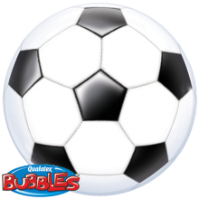 Bubble Ballon Fußball Ø 56 cm - Qualatex -