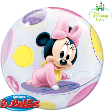 Bubble Ballon Minnie Mouse Baby Ø 56 cm - Qualatex -