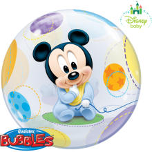 Bubble Ballon Mickey Mouse Baby Ø 56 cm - Qualatex -