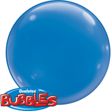 Bubble Ballon Blau Ø 38 cm - Qualatex - 4 Stück