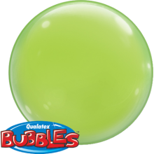 Bubble Ballon Limonengrün Ø 38 cm - Qualatex - 4 Stück