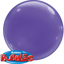 Bubble Ballon Violett Ø 38 cm - Qualatex - 4 Stück