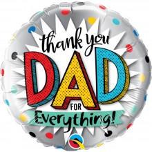 Ballonpost Vatertag: Thank You Dad For Everything - Qualatex -