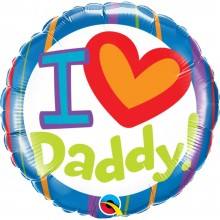 Ballonpost Vatertag: I ♥ Daddy! - Qualatex -