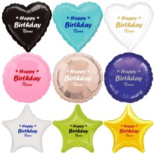 Folienballon - Happy Birthday + Name - Freie Form + Farbwahl Ø 40-50 cm