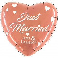 Folienballon Rose Gold - Just Married Jetzt & Immer Ø 60 cm