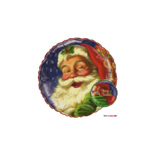 Folienballon Merry Christmas - Weihnachtsmann Ø 45 cm - Qualatex -