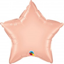 Folienballon Stern - Rose Gold Ø 50 cm - Qualatex -