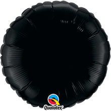 Folienballon Rund - Schwarz Ø 45 cm - Qualatex -