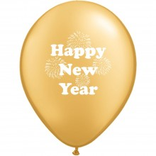 Luftballons Silvester: Happy New Year - Gold - Metallic Ø 30 cm