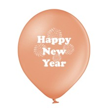 Luftballons Silvester: Happy New Year - Rose Gold - Metallic Ø 30 cm