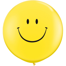 Riesenballon Smiley Ø 90 cm - Qualatex -