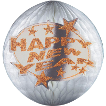 Wabenball Silvester: Happy New Year Ø 25 cm