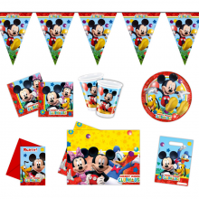 Partypaket Geburtstagsparty Mickey Mouse 60 Teile