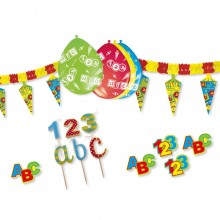 Partypaket ABC 123 Schulanfang 49 Teile