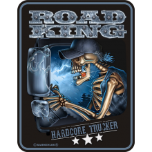 "Blechschild ""Road King - Hardcore Trucker"""