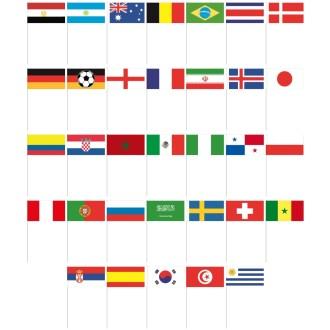 PapierfähnchenPapierfahnen Mexiko ab 10 Stück