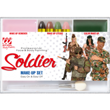 Schmink Set Soldat mit Pinsel & Make Up Entferner