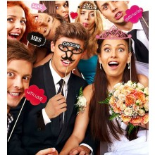 Bride & Groom Photo Booth (Photo Accessories)