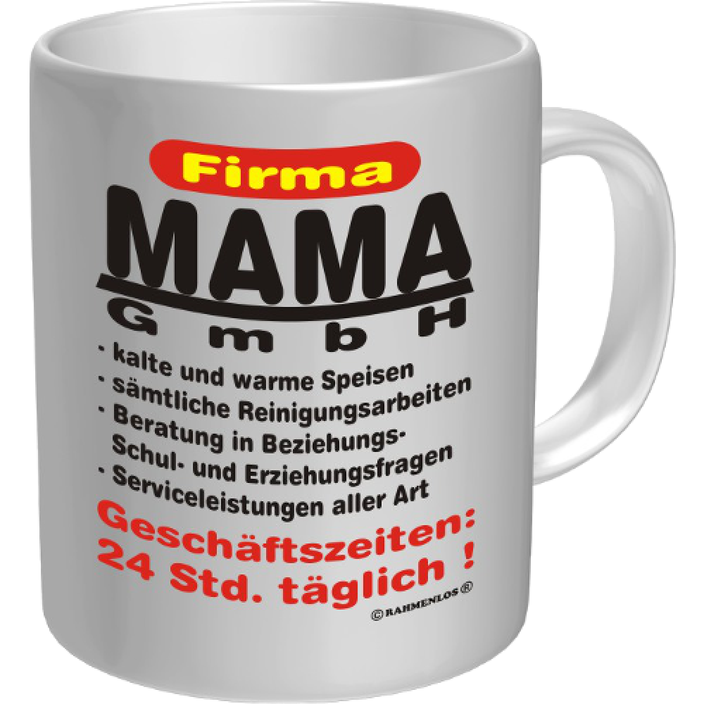 kaffeebecher tasse firma mama gmbh. Black Bedroom Furniture Sets. Home Design Ideas
